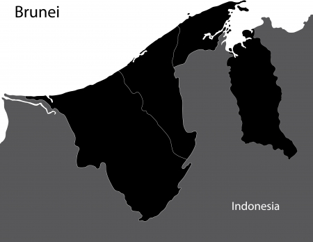 brunei: Brunei map
