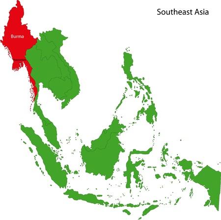 southeast asia: Location of Burma on Southeast Asia