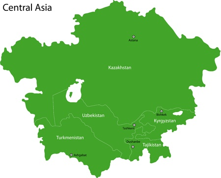 uzbekistan: Map of Central Asia