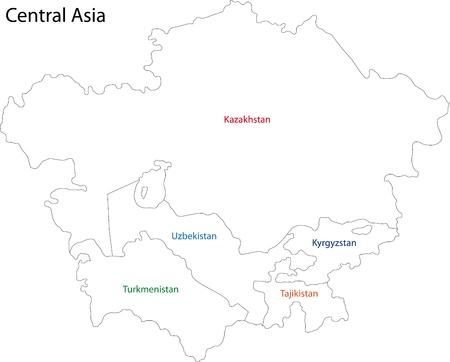 central: Kaart van Centraal-Azië