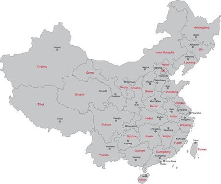 중국의 행정 구역지도
