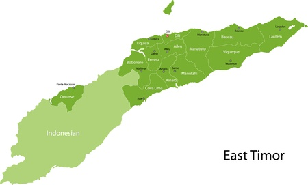 timor: Map of administrative divisions of East Timor