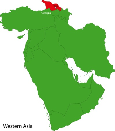 western asia: Location of Georgia on Western Asia