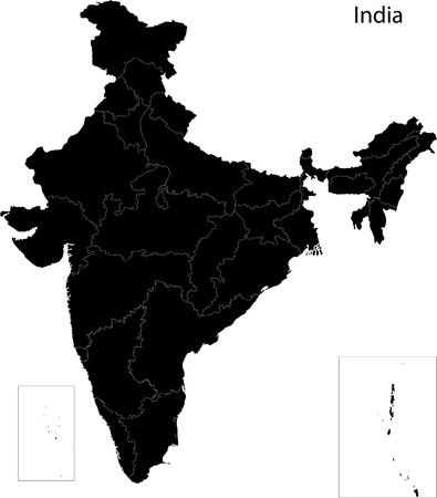 인도의지도 스톡 콘텐츠 - 21876001