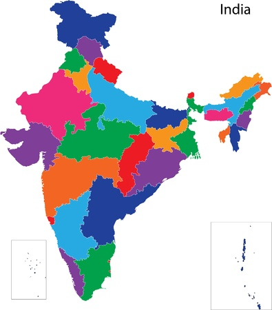 Map of administrative divisions of India