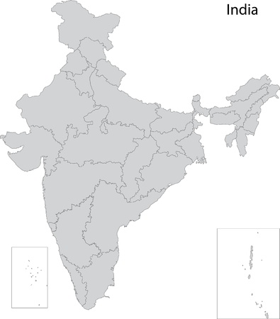 india people: Map of administrative divisions of India