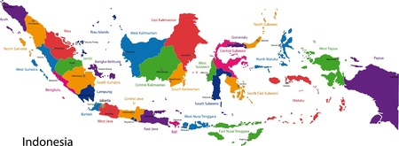 administrative divisions: Map of administrative divisions of Indonesia