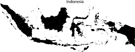 Indonesië kaart Stock Illustratie