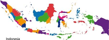 indonesisch: Kaart van de administratieve afdelingen van Indonesië