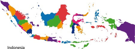 indonesian: Map of administrative divisions of Indonesia