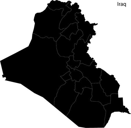 western asia: Iraq map