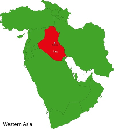 western asia: Location of Iraq on Western Asia