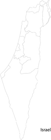 geographically: Map of administrative divisions of Israel
