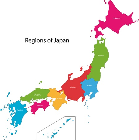 Map of administrative divisions of Japan