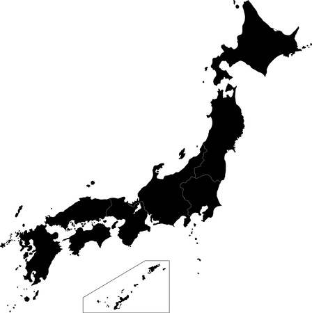 geographically: Japan map