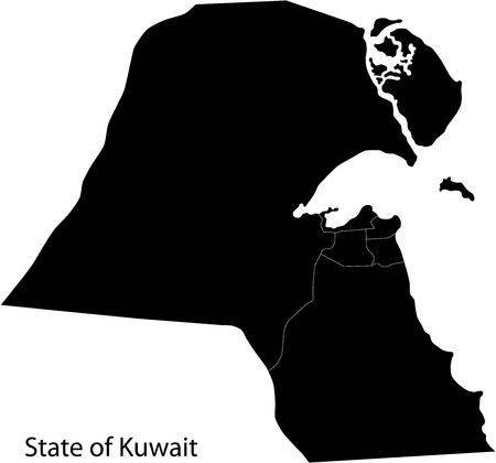 kuwait: Kuwait map
