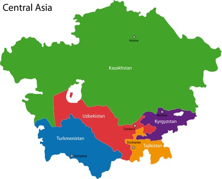 political division: Map of Central Asia