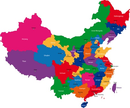 Map of administrative divisions of China