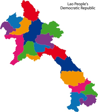 administrative divisions: Map of administrative divisions of Laos