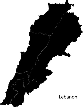 lebanon: Lebanon  map Illustration
