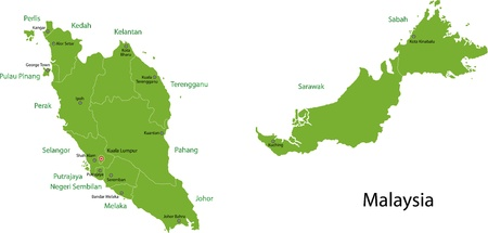 geographically: Map of administrative divisions of Malaysia