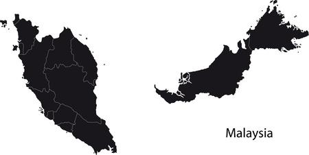 Malaysia map Vectores