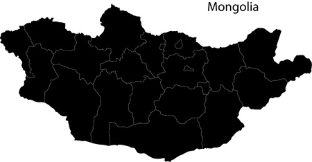 landlocked: Mongolia map