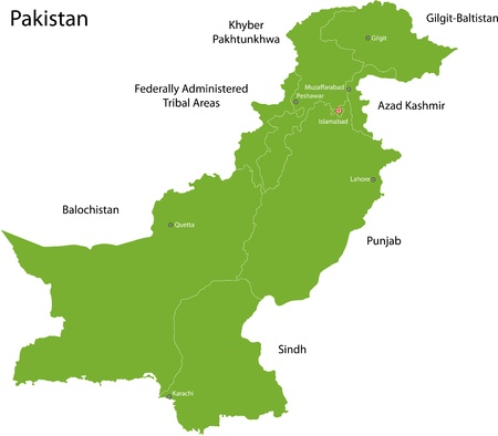 administrative divisions: Map of administrative divisions of Pakistan