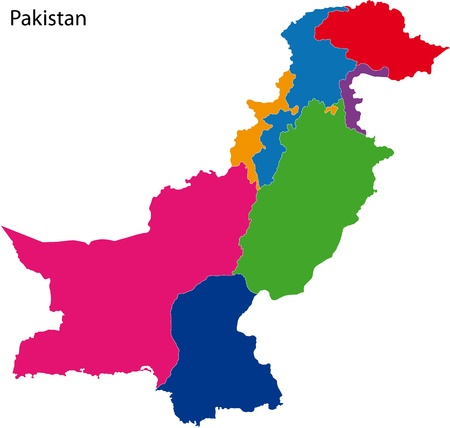 karachi: Map of administrative divisions of Pakistan