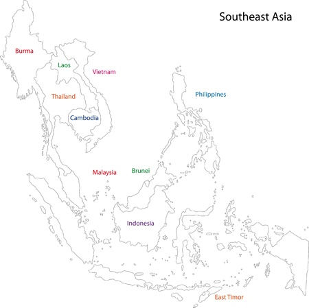 political division: Map of Southeastern Asia
