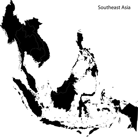 southeastern: Map of Southeastern Asia