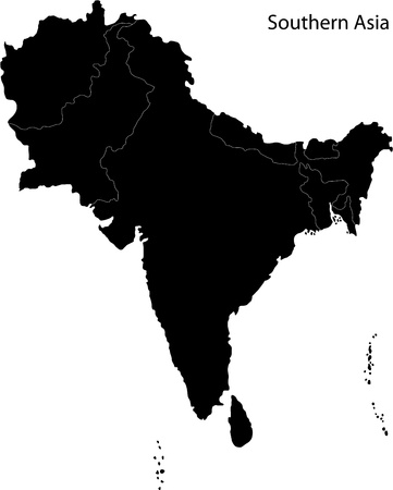 political division: Map of Southern Asia