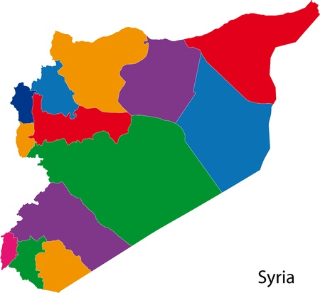 administrative divisions: Map of administrative divisions of Syria