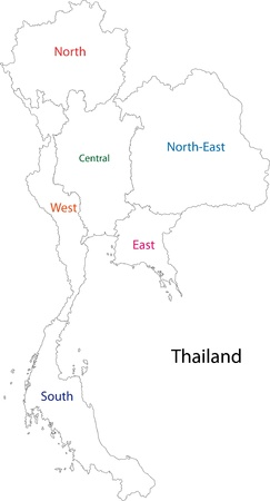 political division: Map of administrative divisions of Thailand