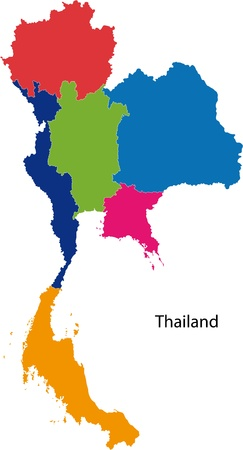 of siam: Map of administrative divisions of Thailand