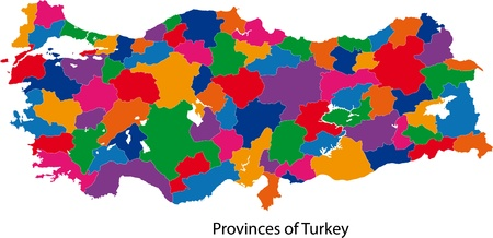 politically: Map of administrative divisions of Turkey