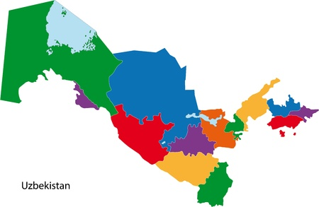 administrative divisions: Map of administrative divisions of Uzbekistan