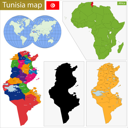 landlocked country: Administrative division of the Republic of Tunisia  Illustration