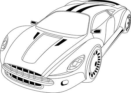 Abstract modern car.