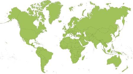 krajina: Podrobná mapa světa rozděleny do zemí