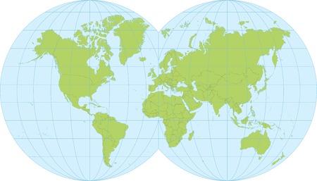 世界の国に分かれての詳細地図