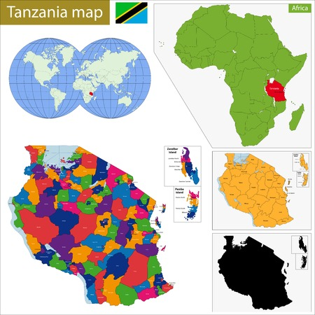 geographically: Administrative division of the United Republic of Tanzania