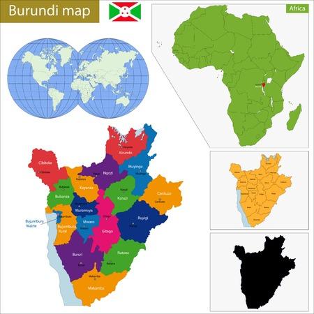 burundi: Administrative division of the Republic of Burundi
