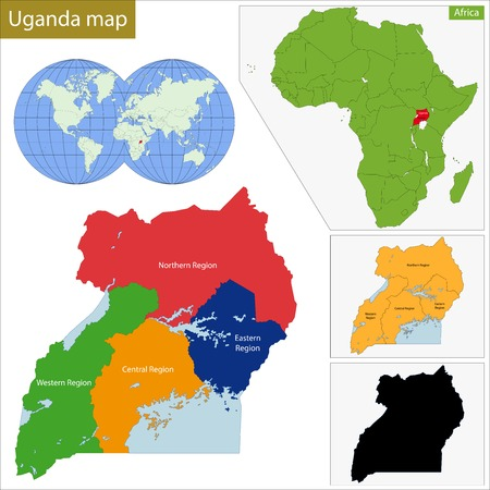 landlocked country: Administrative division of the Republic of Uganda