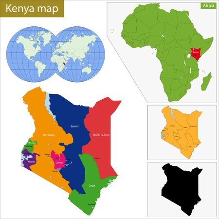 geographically: Administrative division of the Republic of Kenya