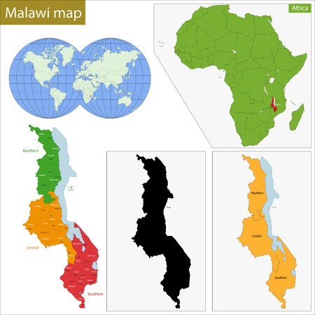 malawi: Administrative division of the Republic of Malawi