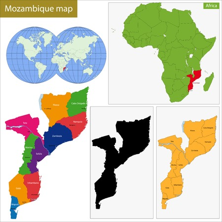 geographically: Administrative division of the Republic of Mozambique