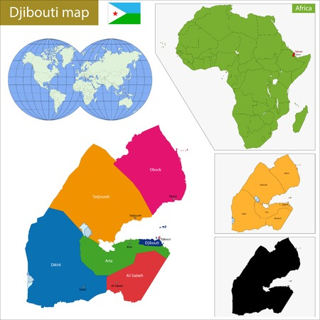 geographically: Administrative division of the Republic of Djibouti