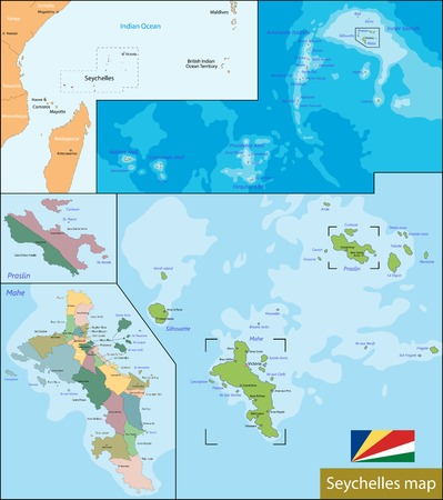 archipelago: Administrative division of the Republic of Seychelles Illustration