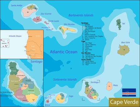 Administrative division of the Republic of Cabo Verde Illustration